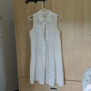 Calvin Klein White Blouse Dress (Like new)